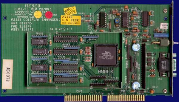Commodore A2320 Amber Board