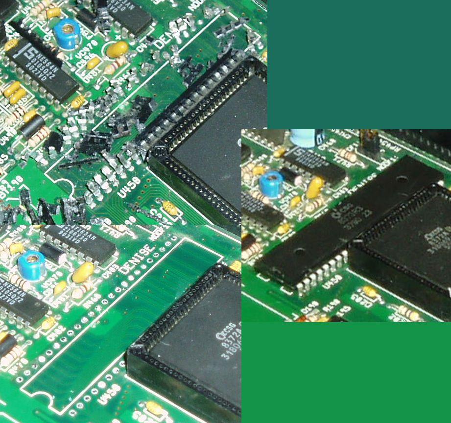 Repairing damage caused by battery leak