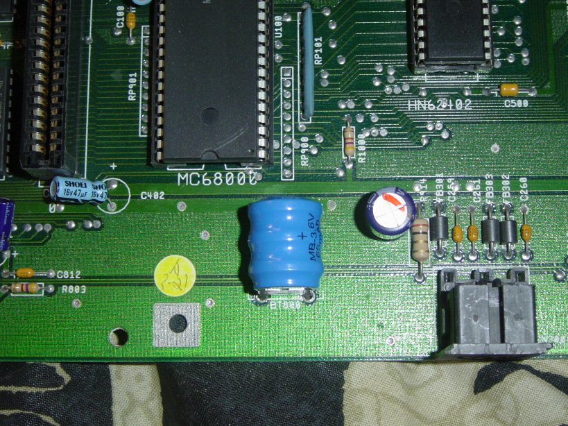 Perfect battery zone on A2000 mobo