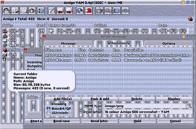 A500 16 colour screenshot - YAM and colourfonts