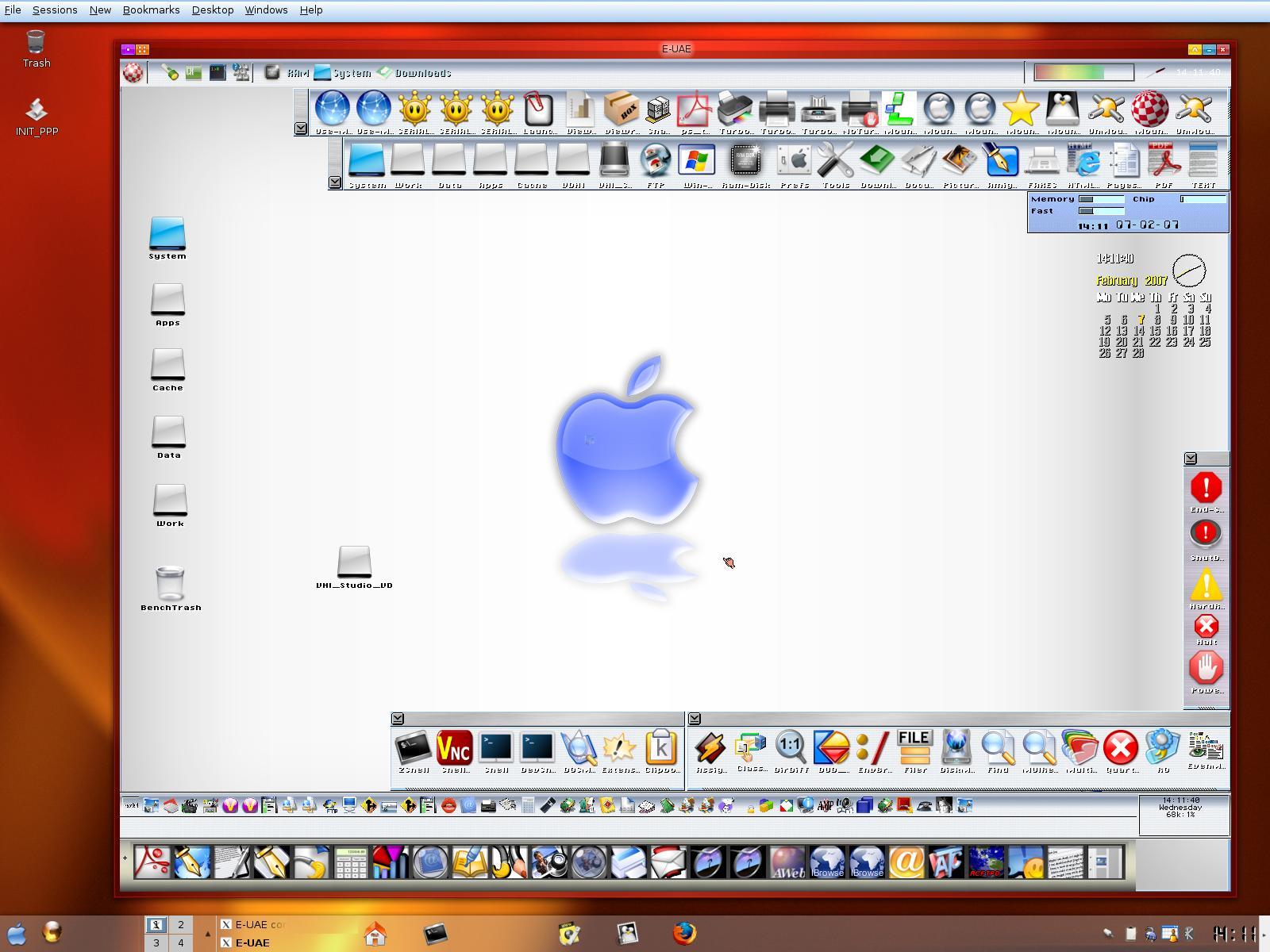 AmigaOS3.9 running under LINUX.