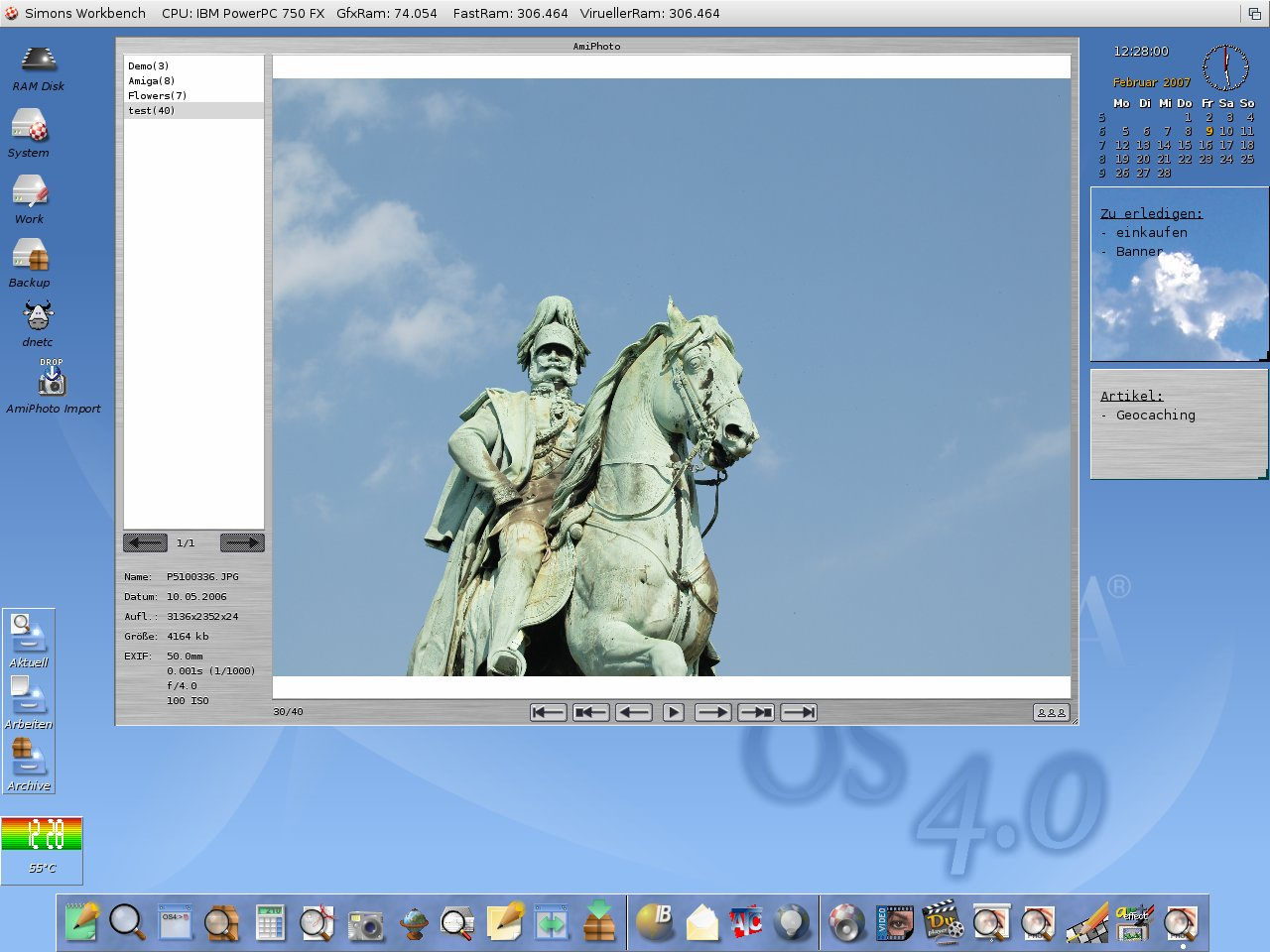 AmigaOS4 final with AmiPhoto 1.5 (full)