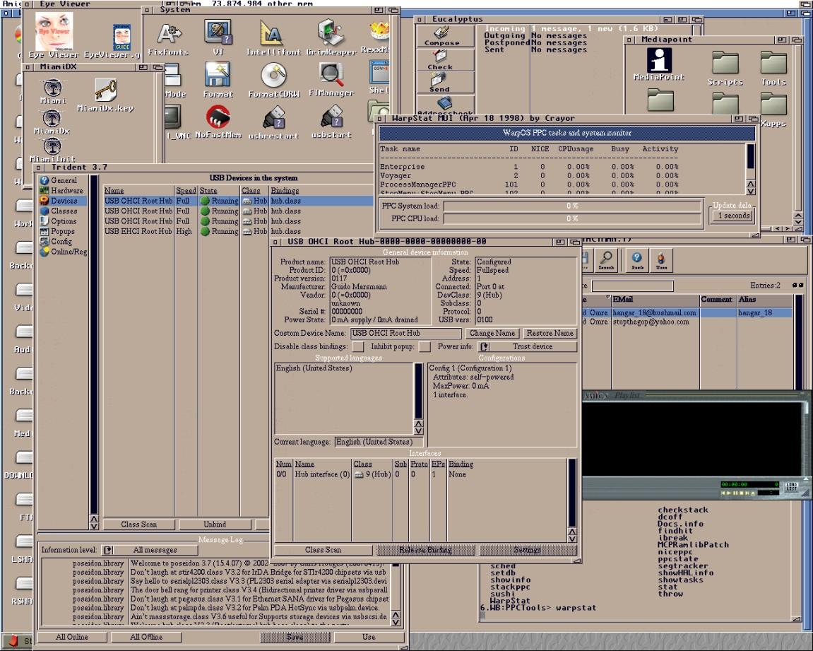 Poseidon running with Ali PCI card using OpenUSB.device