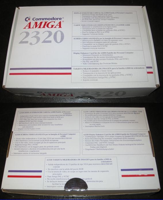 Amiga 2320 Amber Display Board Box