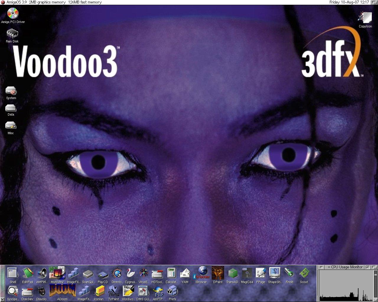 Amiga A3000T Voodoo3 3000 Workbench