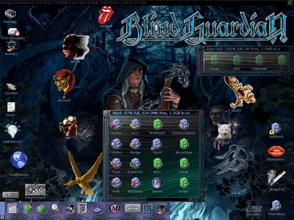 My Workbench Screenshot (Last time my Amiga worked)