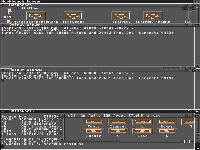 Amiga A4000 TLSFMem Benchmark
