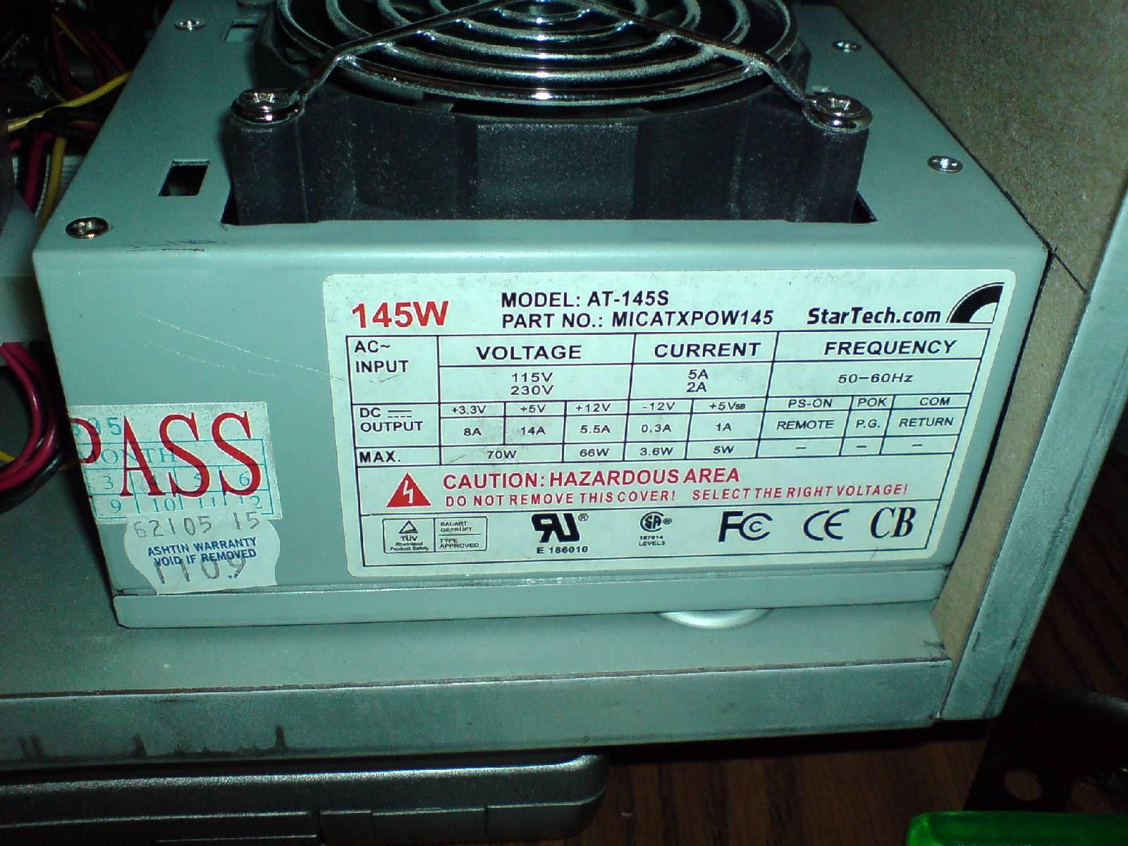 A4000D MiniATX PSU replacement (2/2)