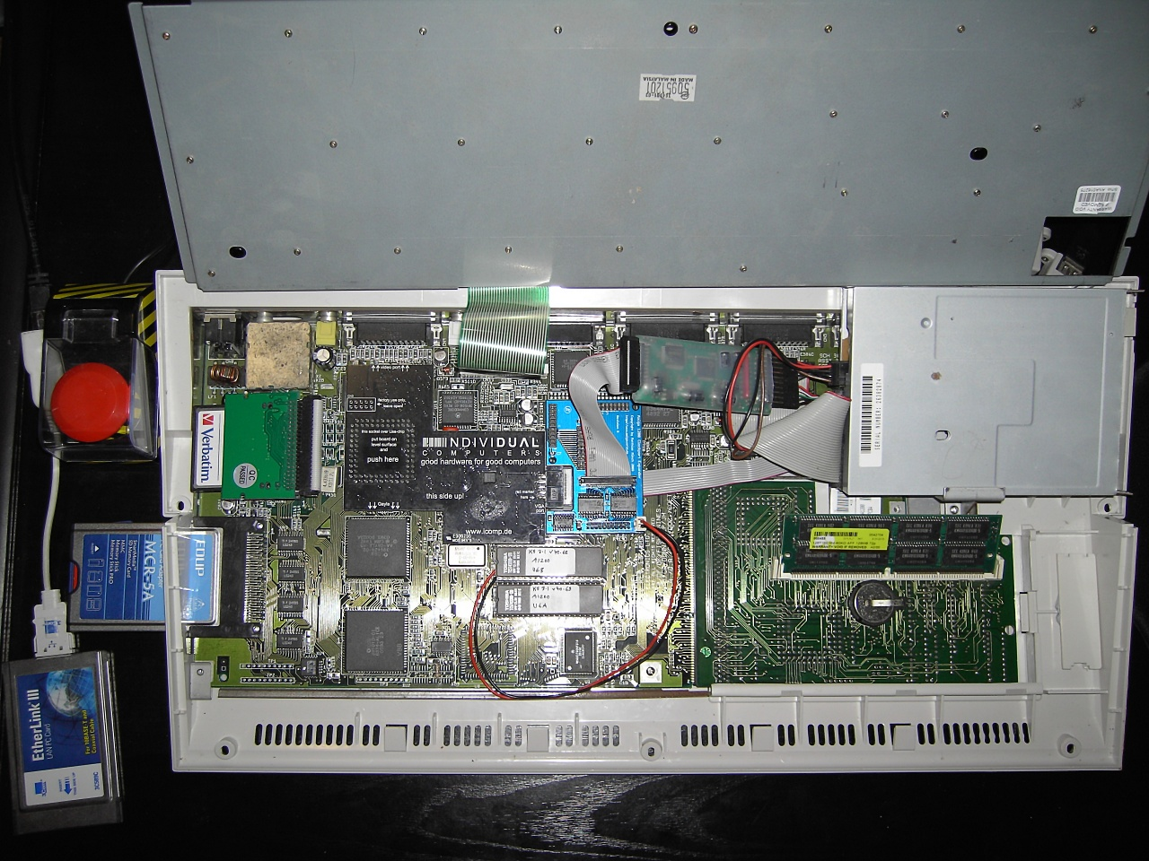 A1200 with Indivision AGA and 4-Port Clockport Expander