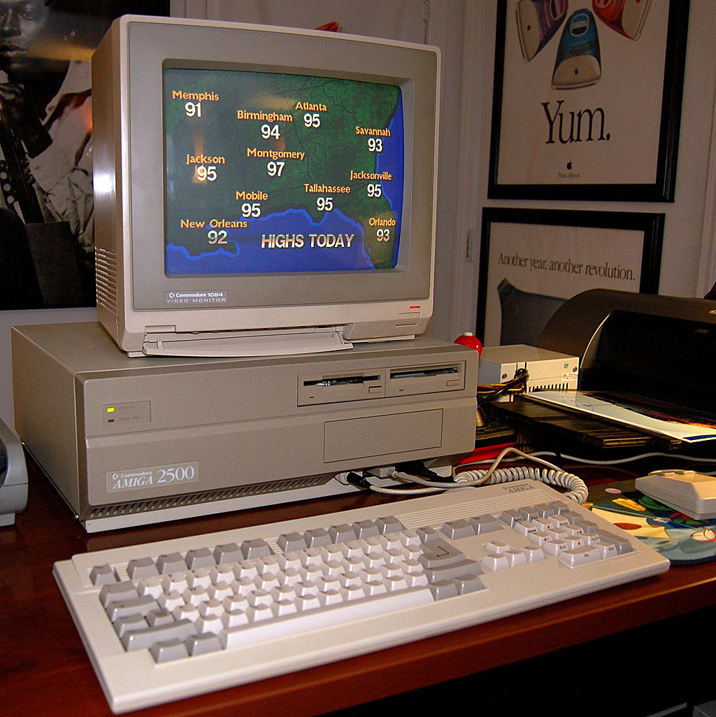 Amiga 2500, a former TV station weather tool