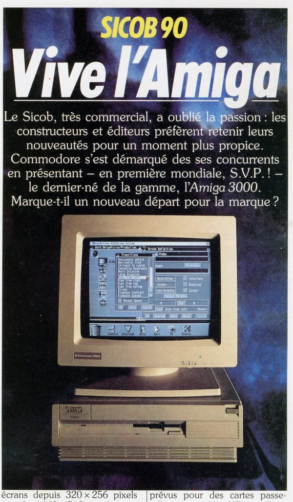 AMIGA A3000 in France - SICOB 1990