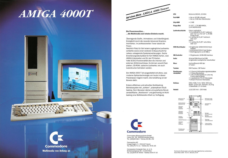 Commodore Amiga 4000T advert