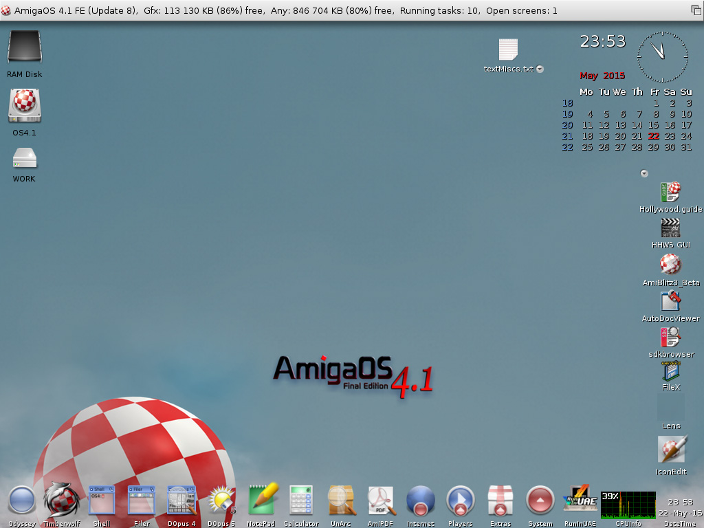 AmigaOS 4.1 FE - Update 8 - Workbench