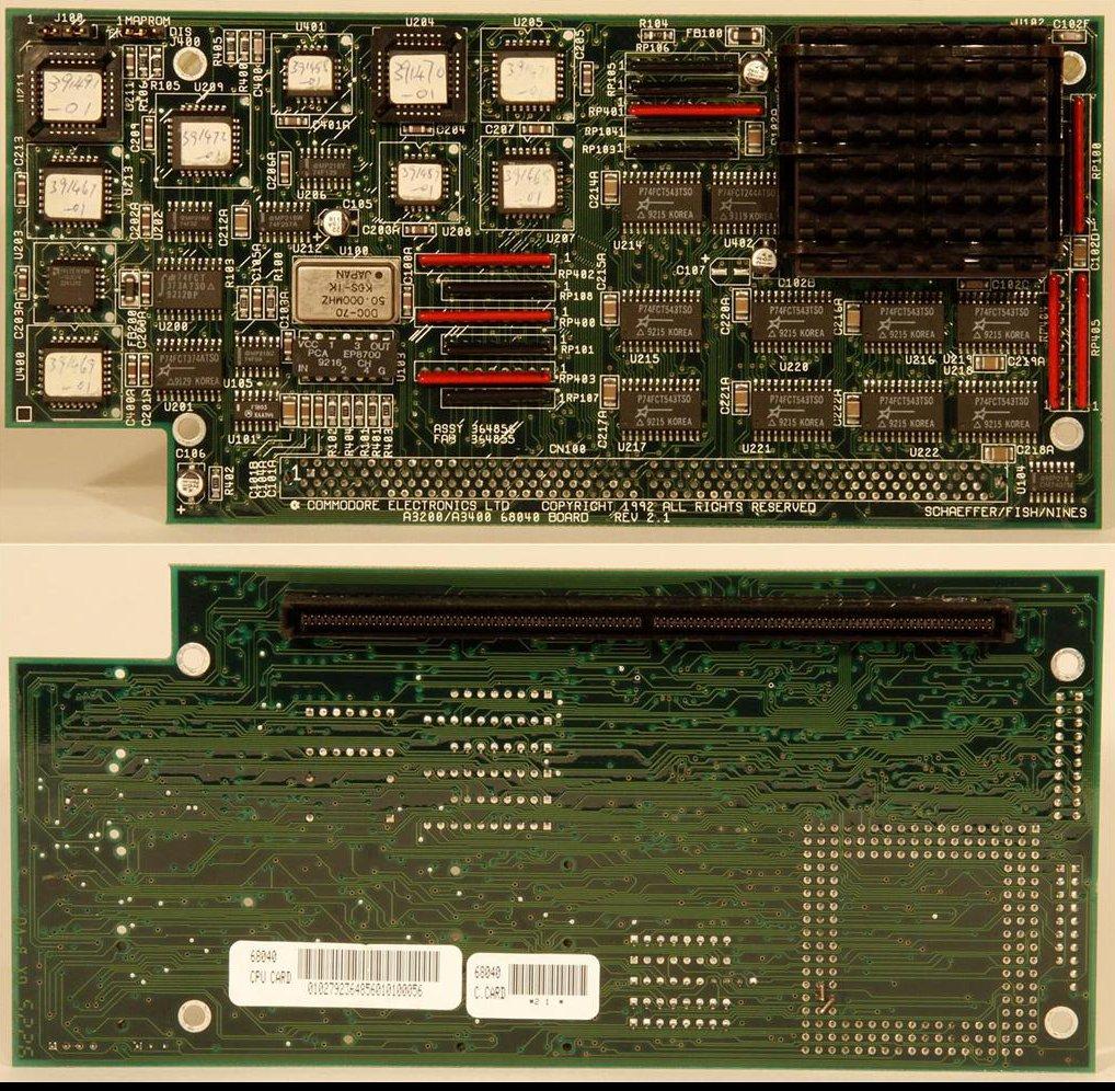 A3200 / A3400 68040 CPU board Rev2.1