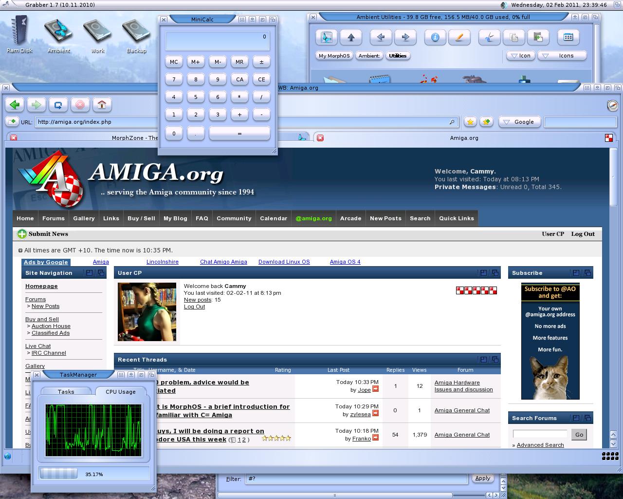 Amiga.org through Origyn Web Browser on MorphOS