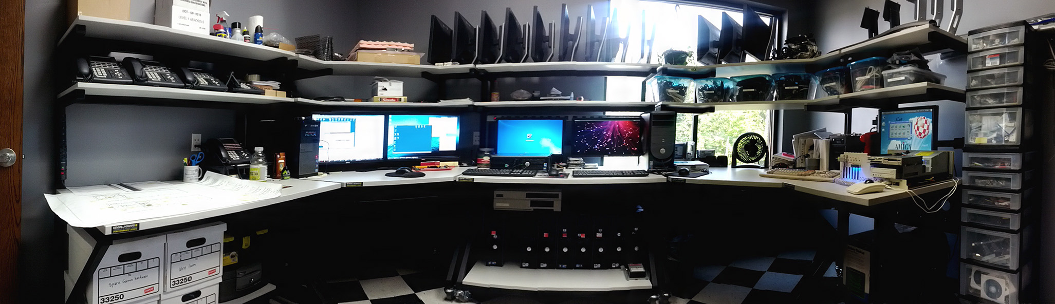 My office - with A2000 and other Amiga parts :)