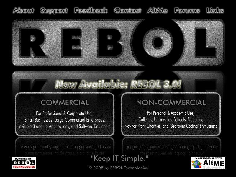 Rebol site redesign idea 1