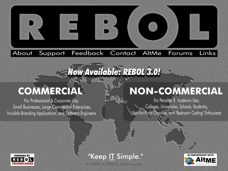 Rebol site redesign idea 2