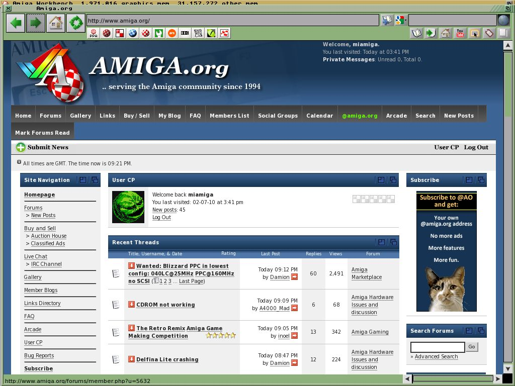 Netsurf on real Amiga