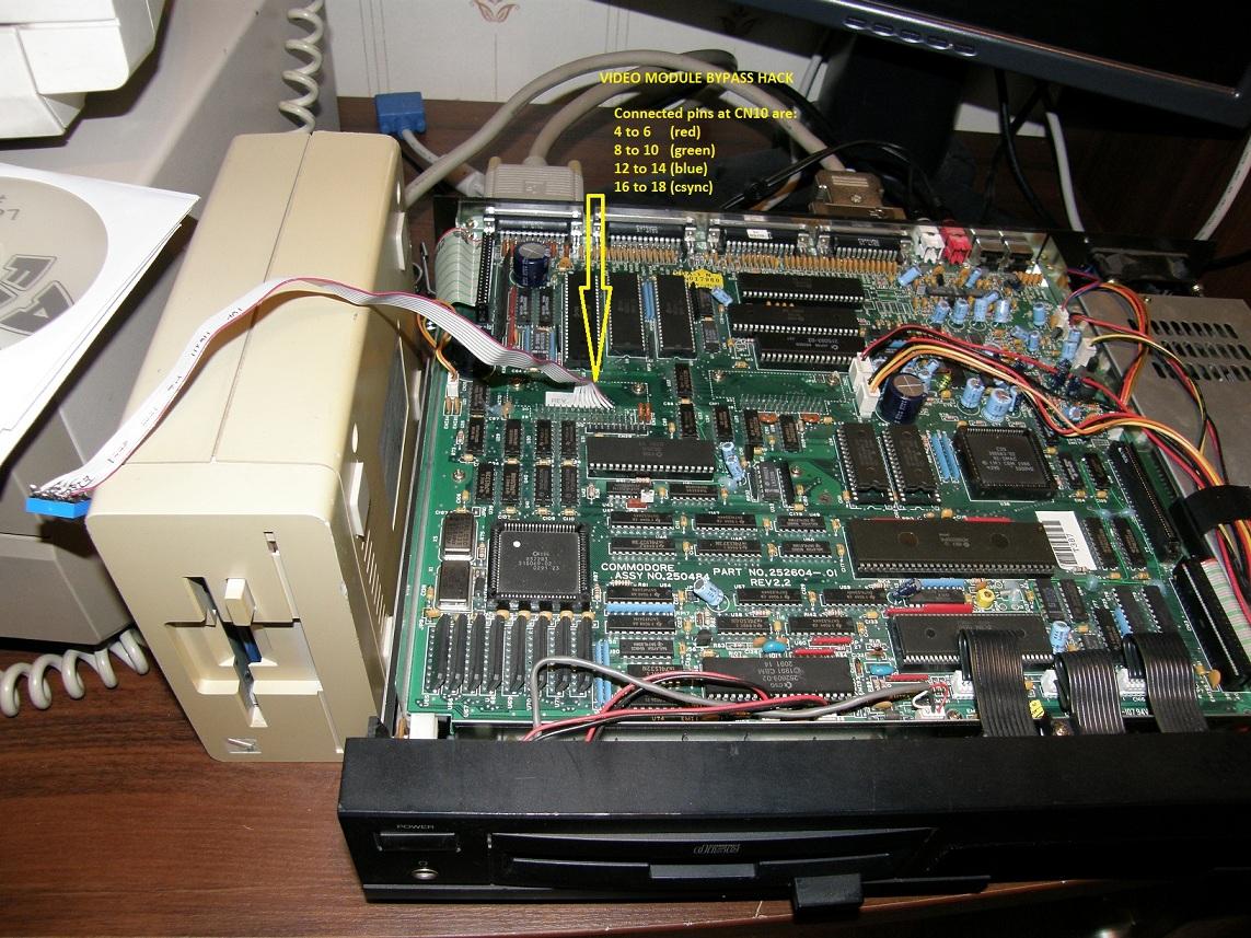 CDTV Video Module bypass