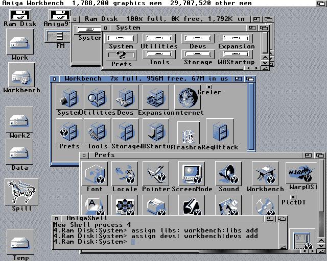 My main Amiga 1200 - AOS 3.1 (via Amiga911 boot disk)