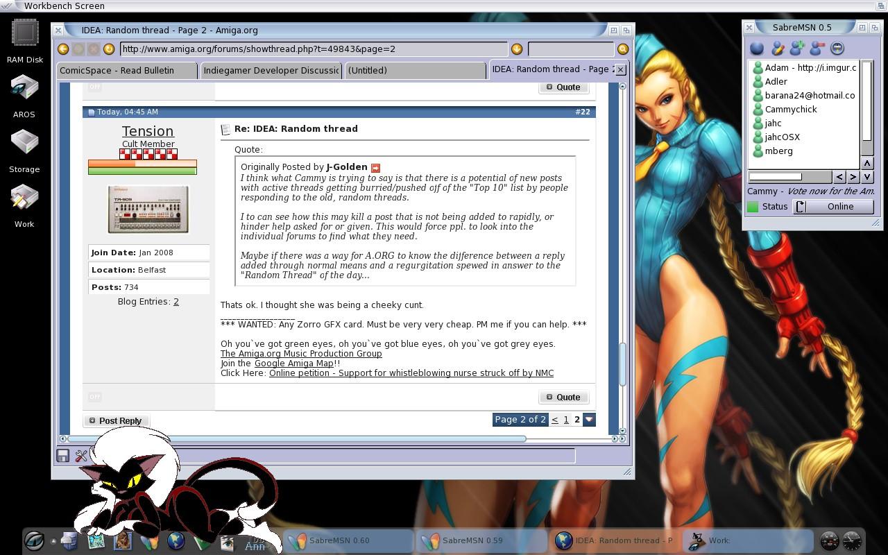 Icaros Desktop (AROS) running on an Acer Aspire laptop