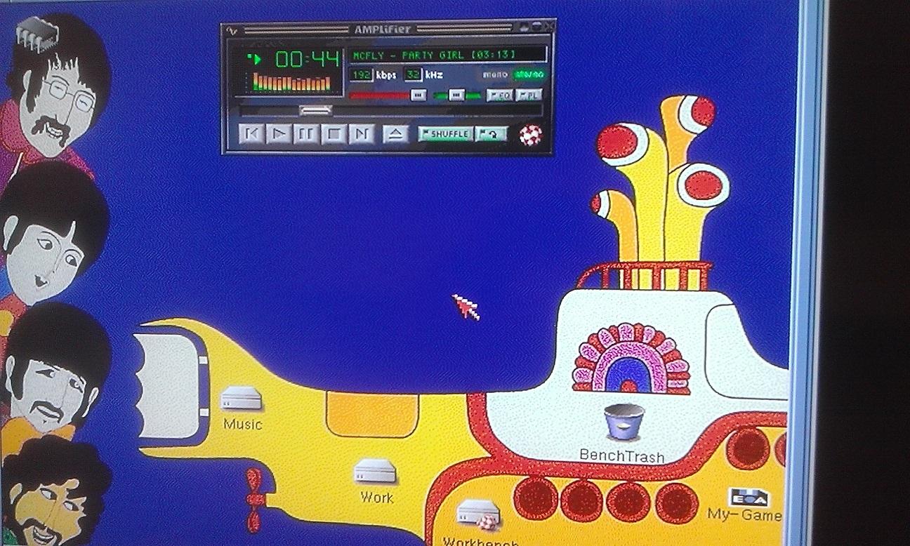 Yellow Sumarine Amiga screen shot
