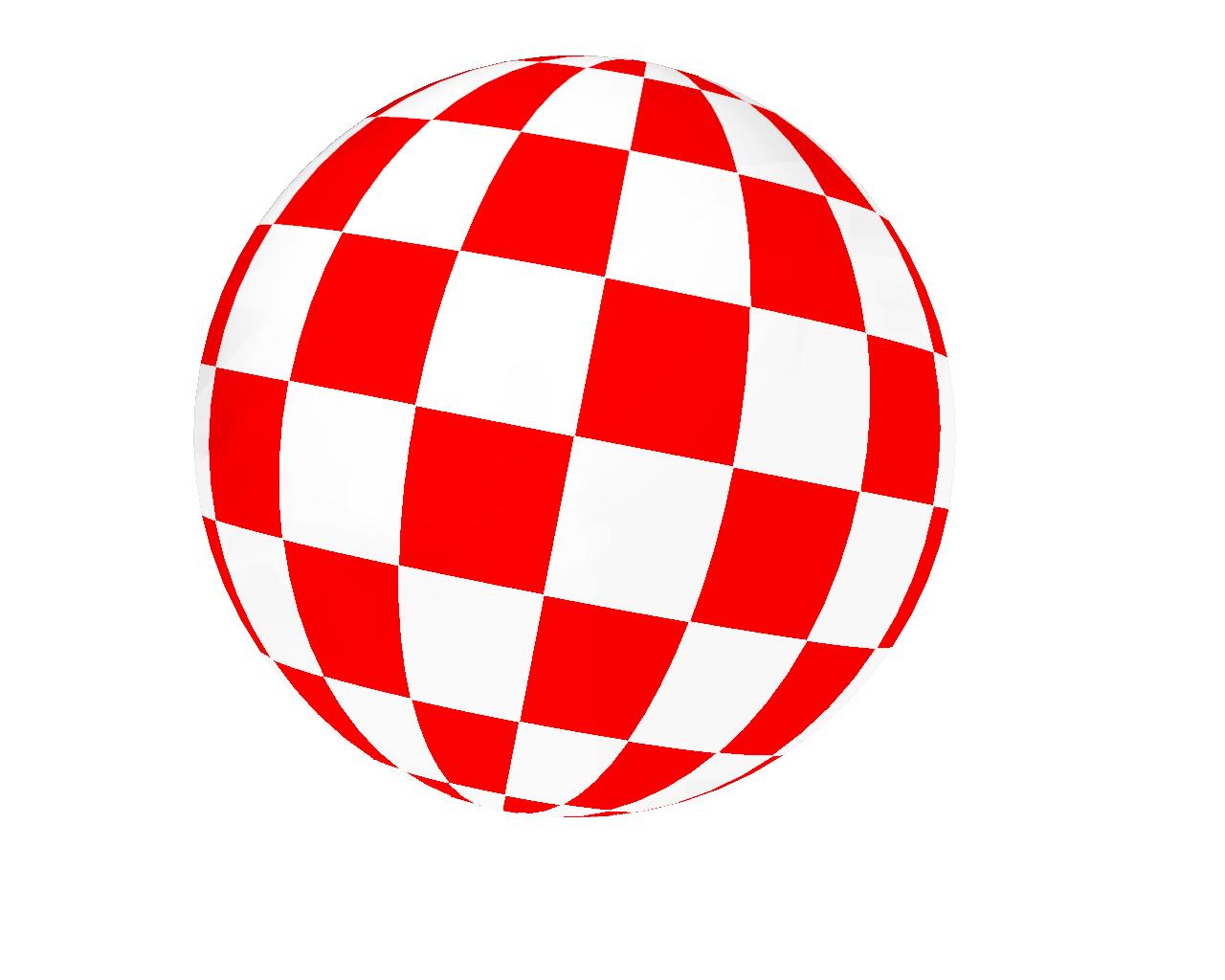 Hi-Res Amiga Boing Ball - No Shadows