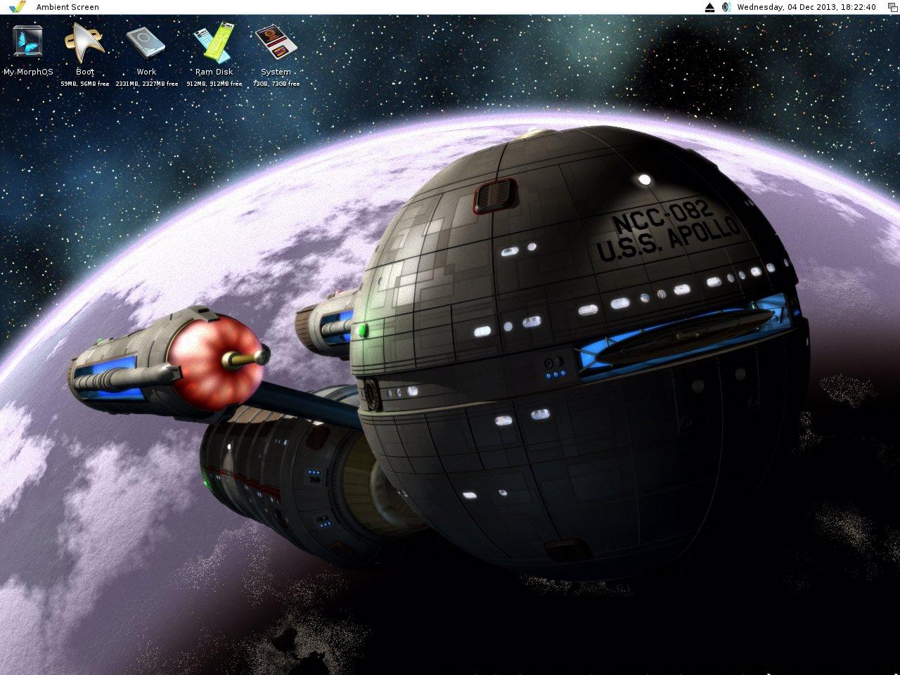 My Trek MorphOS desktop