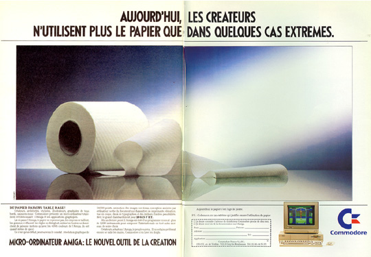 Advert. for the AMIGA A1000 (French)
