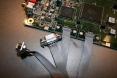 Amiga 4000D motherboard - joystick close up