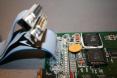 Amiga 4000D motherboard - serial/parallel close up