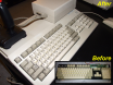 Amiga 500 - before and after Retr0brite